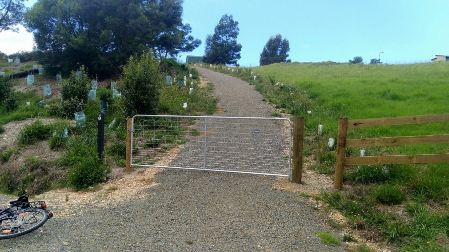 EGWater new gate protecting Wallaby Creek Walking Track