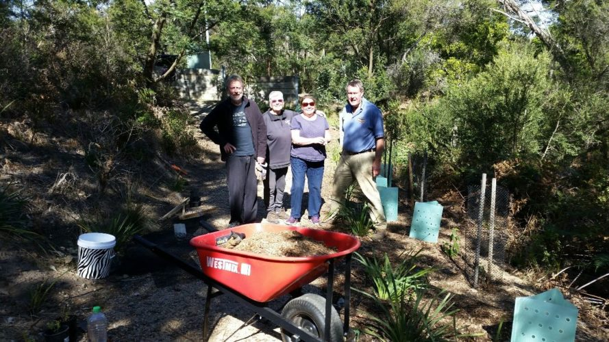 Happy band of Landcarers Wed 28 August