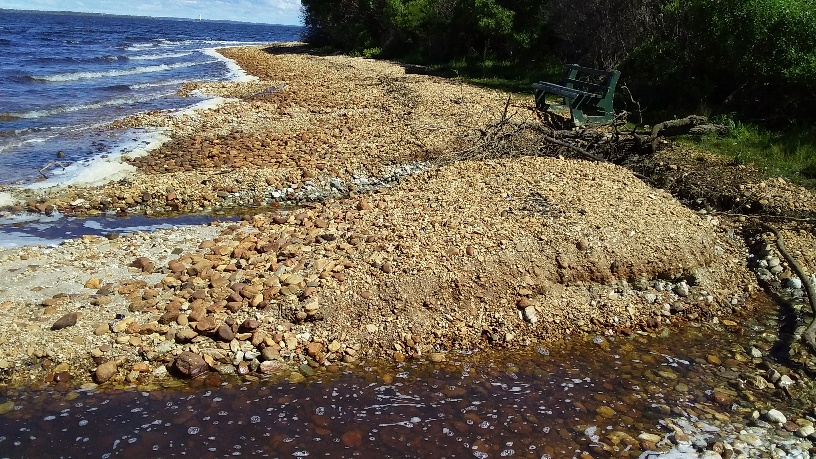 Foreshore erosion marches on